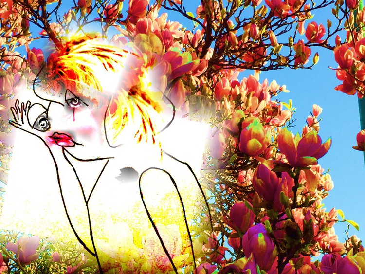 woman and flowers - Image 0