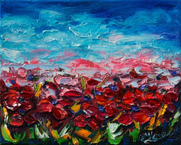 """Poppy Fields"" (with Palette Knife) - Image 0"