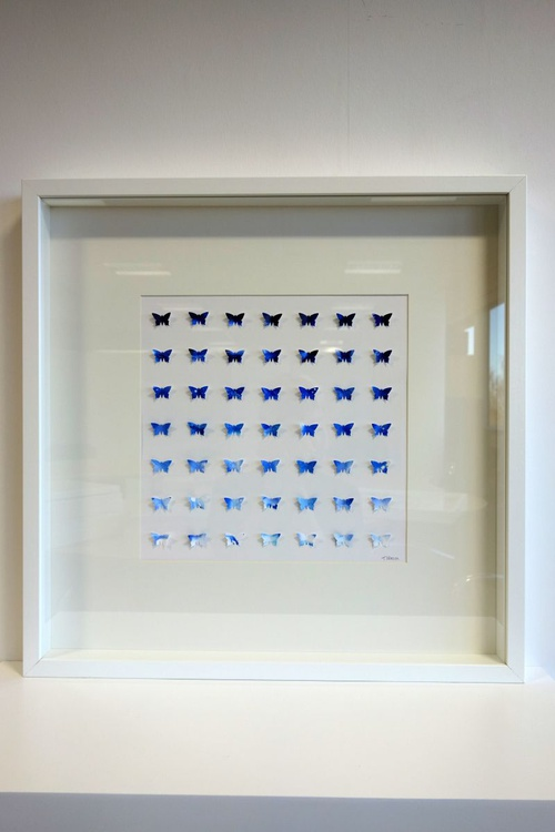 Blue Butterfly Grid - Image 0