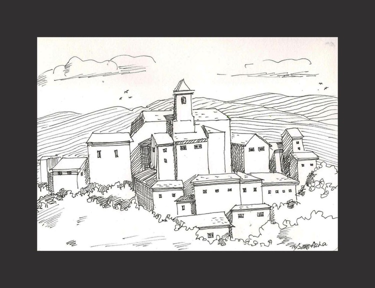 """Mansion on the hills 8.25""""x 5.5"""" - Image 0"""