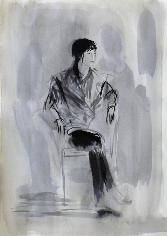 January Sketch #6, 29x42 cm - Image 0
