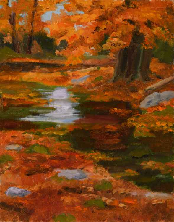 Autumn Evening on the river -