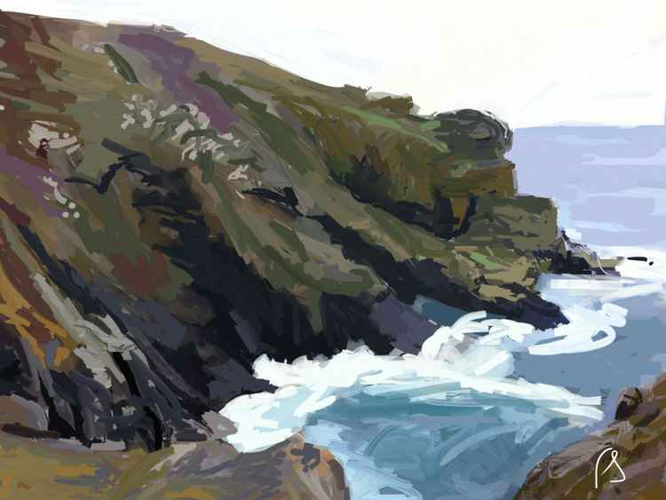 'Levant to Botallack' Limited Edition iPad Painting