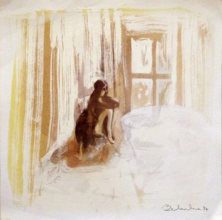 Woman, Drawing 40x40cm - Image 0