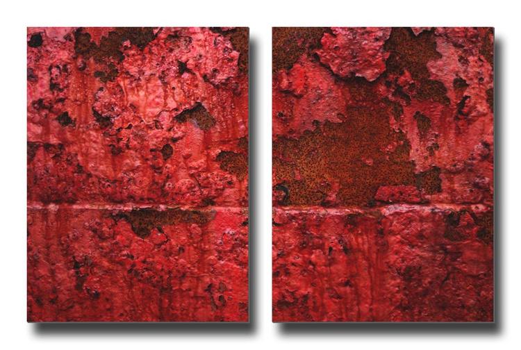 Viscera - Diptych- Two 16x12in Aluminium Panels - Image 0