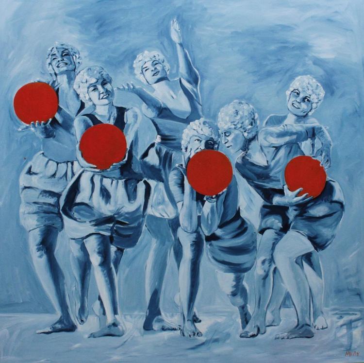 Dancers with orange balls - Image 0