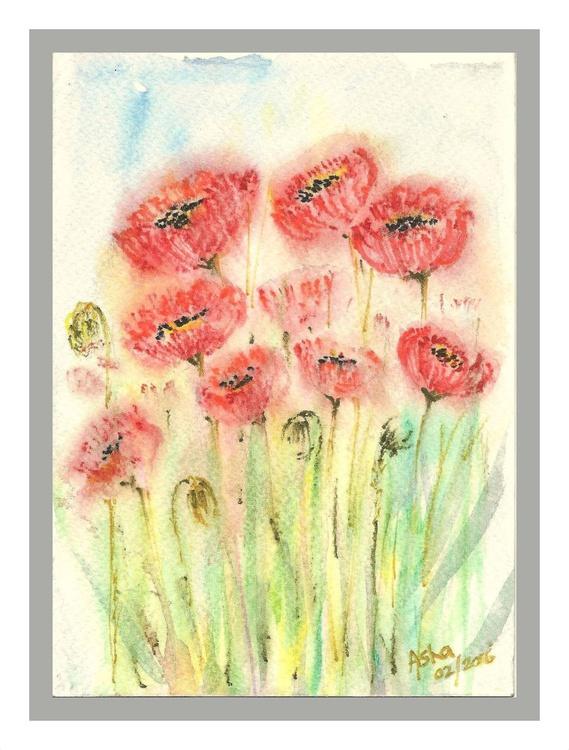"""Poppies-5""""x 7"""" - Image 0"""