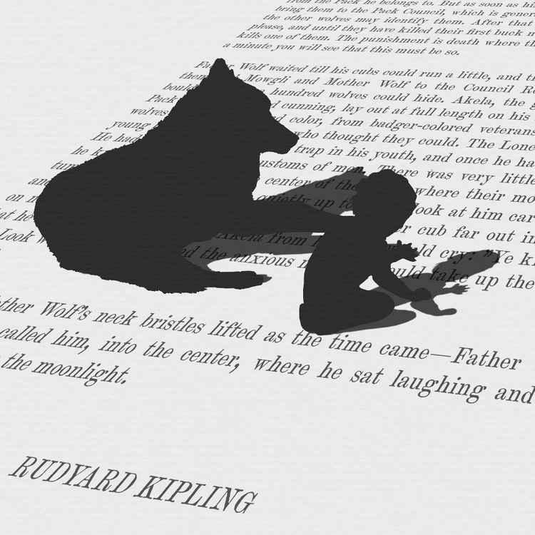 'Mowgli's Brothers' (Monoprint) -