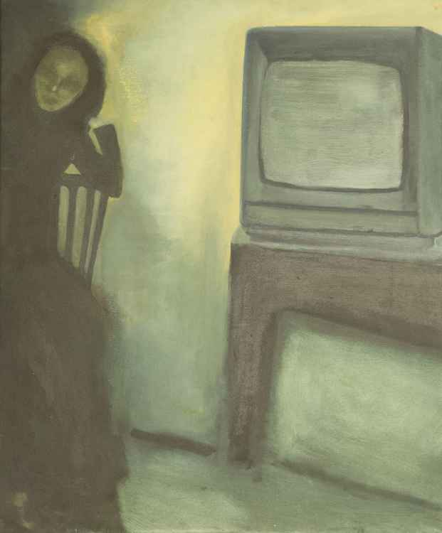 The woman and the Television -