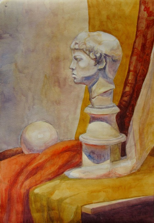 The still life with the bust - Image 0