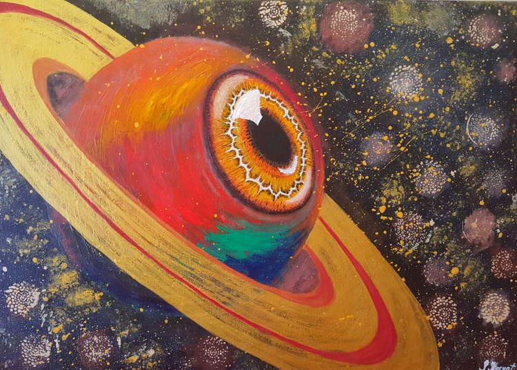 """""""The Eye of the Planet X"""" - 70x50cm - Image 0"""