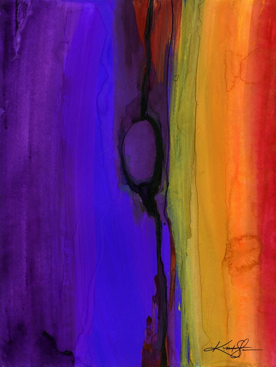 Mystic Wander 2 - Abstract Watercolor Painting - Image 0