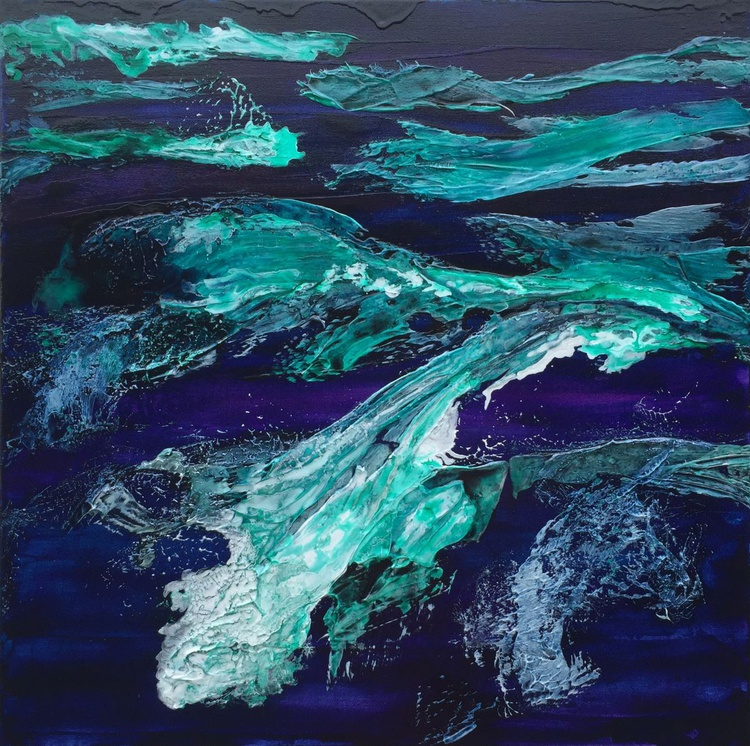 Water Symphony #16054 (60x60cm) FREE SHIPPING TO EUROPE - Image 0