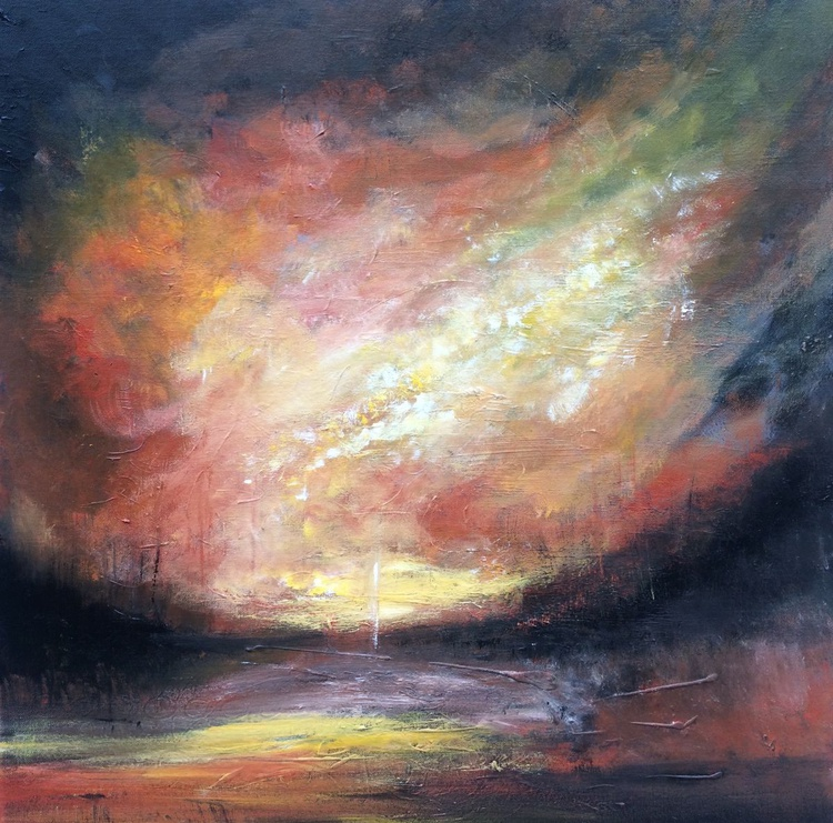 """""""Light will be come 3"""" Acrylic painting 70x70cm - Image 0"""