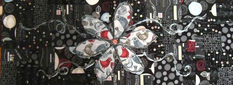 Fabric bird flower - Image 0
