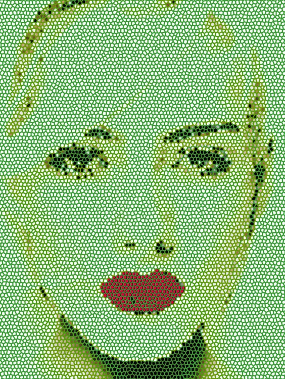Red Lips in Green - Image 0
