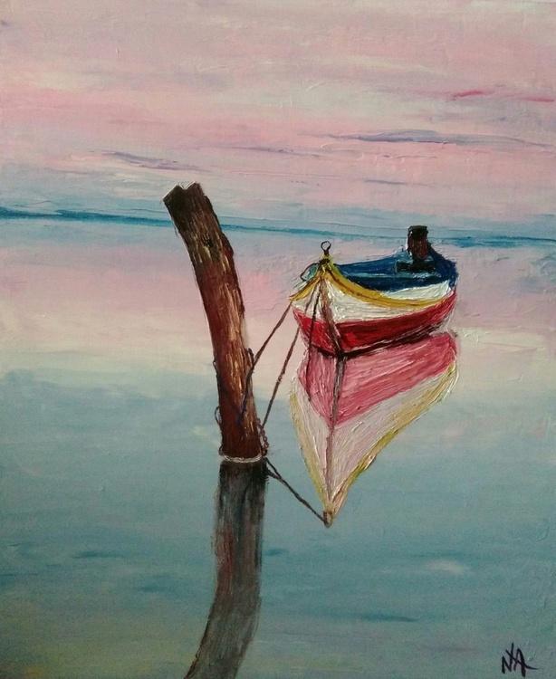 Alone boat 50x60 - Image 0