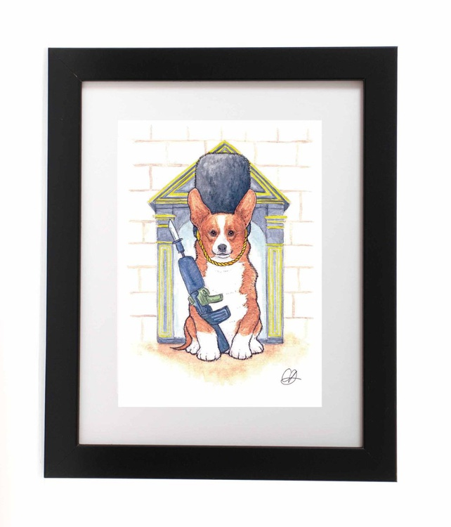 Queen's Guard Dog (Ready Framed) - Image 0