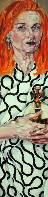 Dame Vivienne Westwood in vintage Vivienne Westwood -