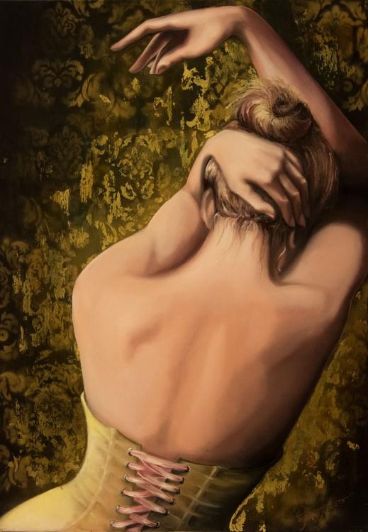 """Doubt""original mixed media painting 70x100x3cm - Image 0"