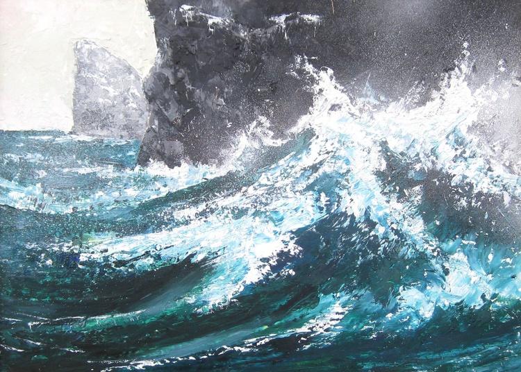 Wave Breaking on Stac Lee, St Kilda - Image 0