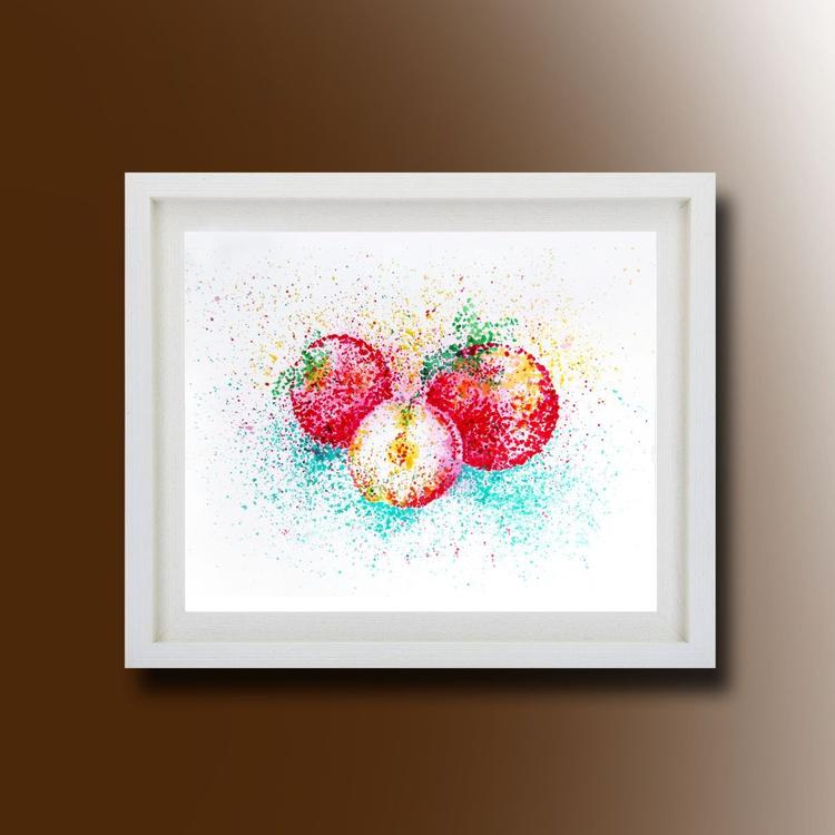 Still Life, Apple Original Painting - Image 0