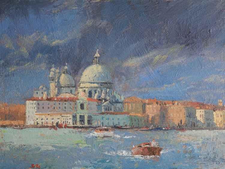 Venezia, Chiesa della Salute before sunset