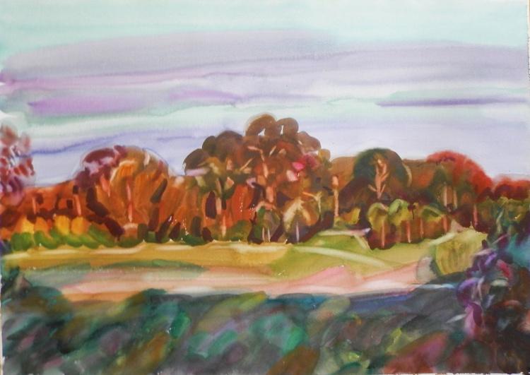 autumn trees, 70x50 cm - Image 0