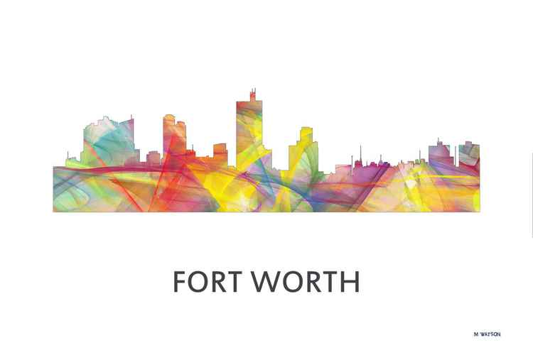 Fort Worth Texas Skyline WB1 -