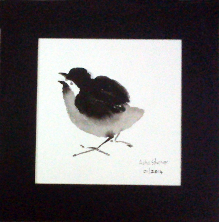 The Cute Chick 1 -Chinese Ink painting - Image 0