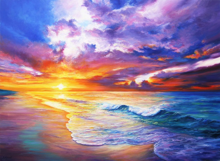 Memories of a sunset - Large Painting - Image 0