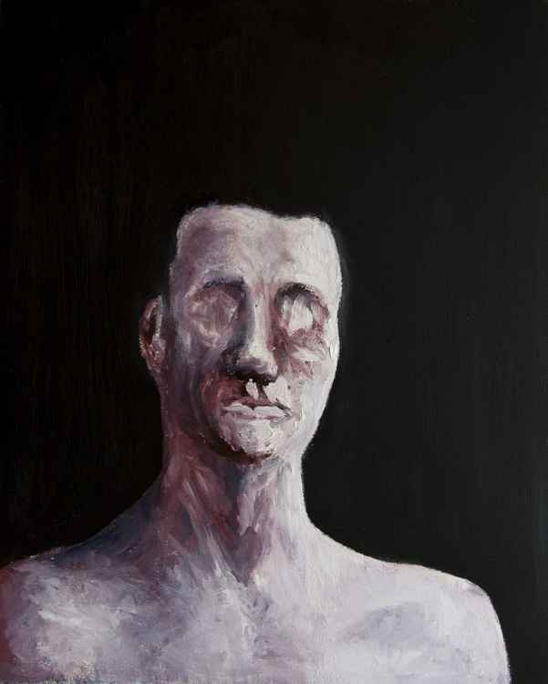 Portrait of a blind man -