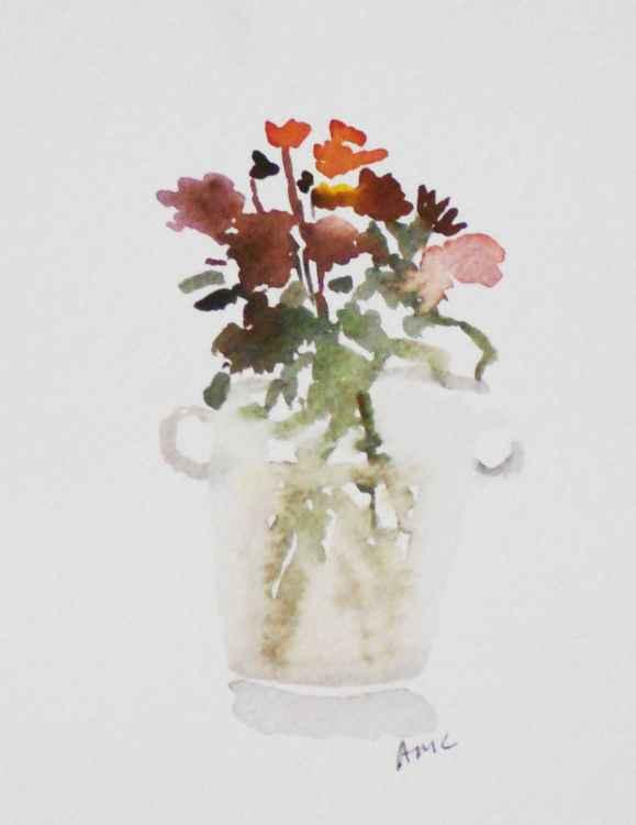 Flowers in Glass Champagne Bucket
