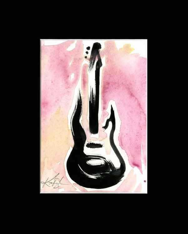 Guitar 1 - Abstract Illustration Painting
