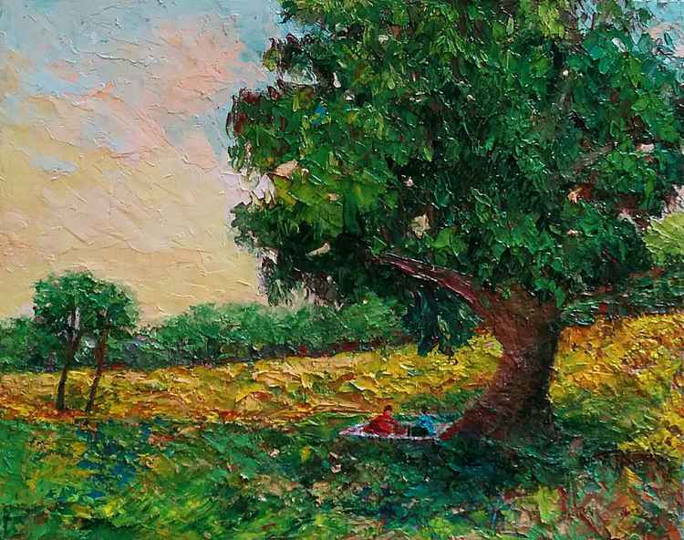 "Countryside Landscape ""Picnic"" -"
