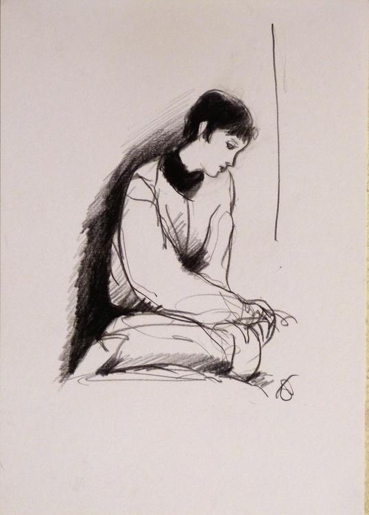 January #1, life drawing 29x21 cm - Image 0