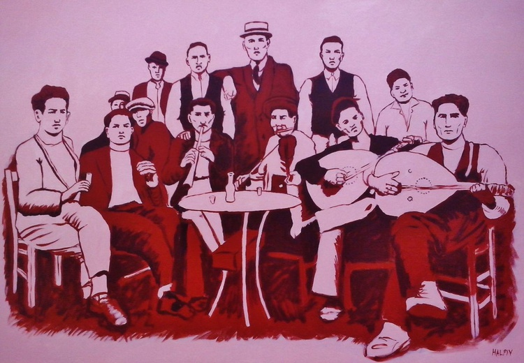 Lakkos drinkers and musicians - Image 0