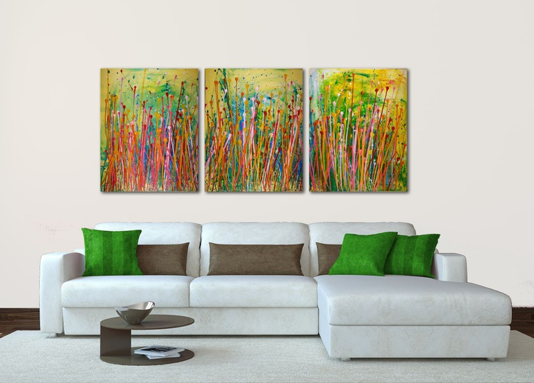 Interrupted Floral landscape - Tryptic - BEAUTIFUL STATEMENT - Image 0