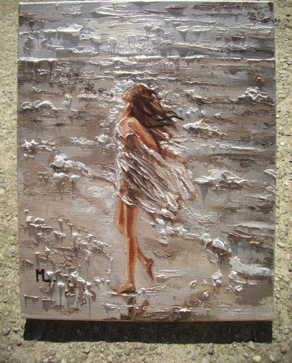 """ THE BEST DAY ... "" original painting palette knife GIFT MODERN URBAN ART OFFICE ART DECOR HOME DECOR GIFT IDEA - Image 0"