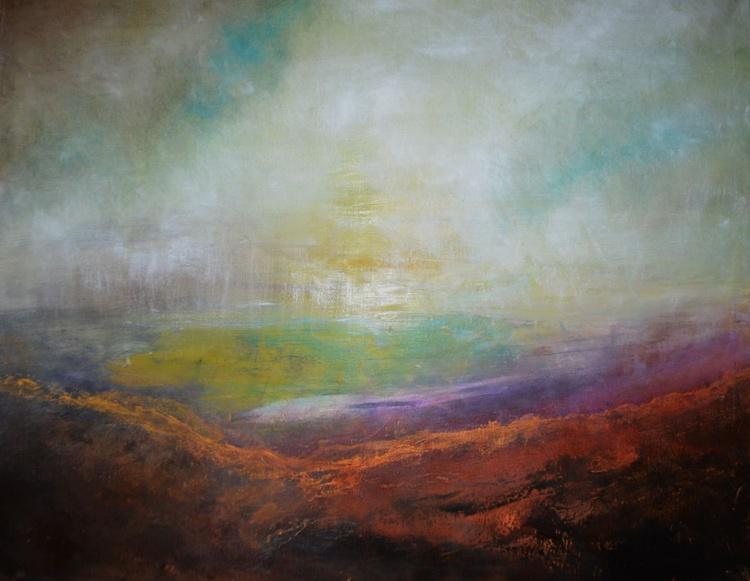 """Large abstract landscape """"Lavender mist"""" - Image 0"""