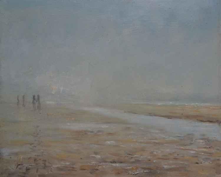 misty beach -