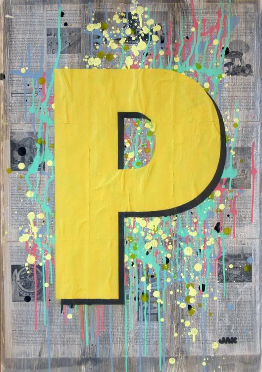 P - Helvetica Heavy Condensed - Image 0