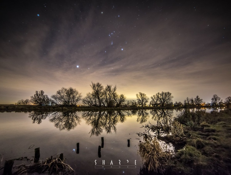 Orion over the Great Ouse, Ely, Cambridgeshire - Image 0
