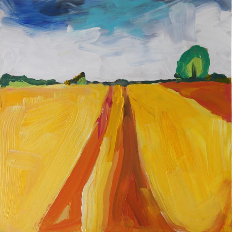 Yellow Field, Northumberland (Framed) - Image 0