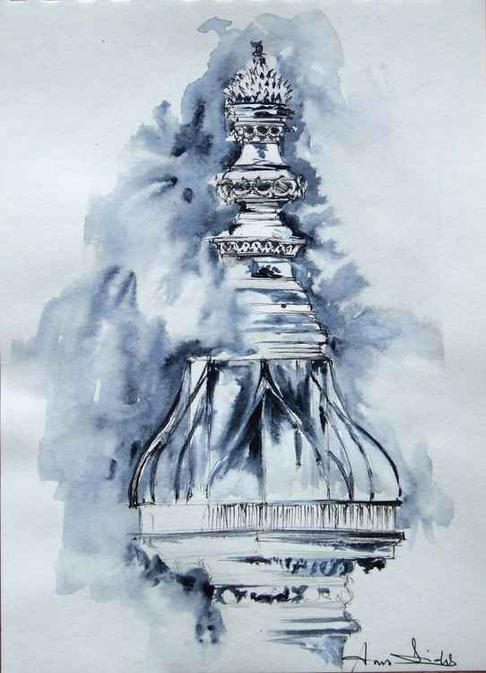 Original watercolour Monument of London