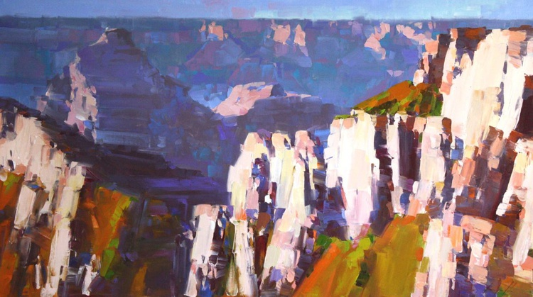 Grand Canyon Arizona Original large painting on canvas Painting in handmade - Image 0
