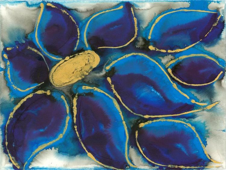Polypetalous 5 - Deep Blue Petals - Image 0