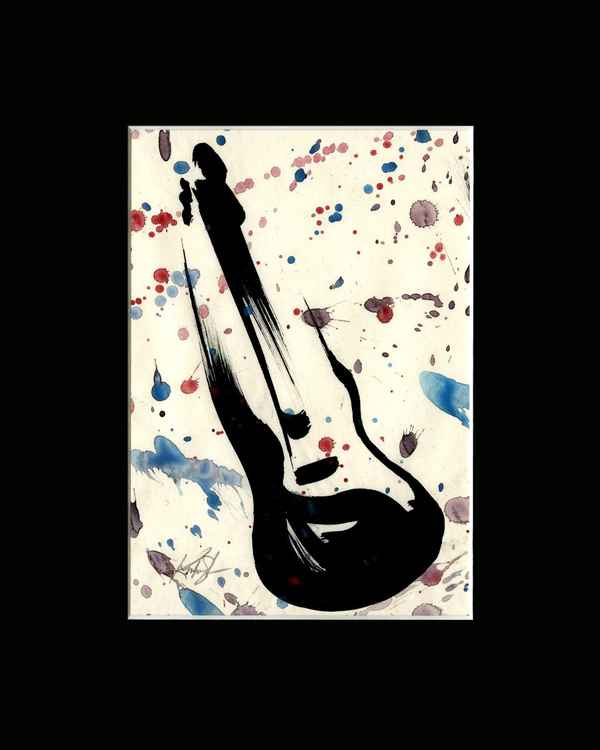 Guitar 7 - Abstract Illustration Painting -
