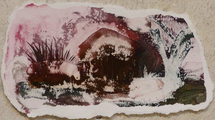 Country Cottage #9, 30x16 cm - Image 0