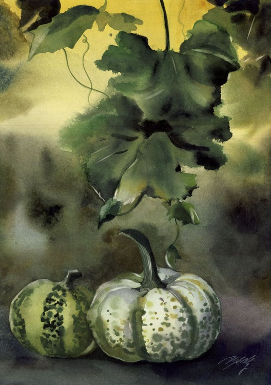 Autumn still life with pumpkins - Image 0